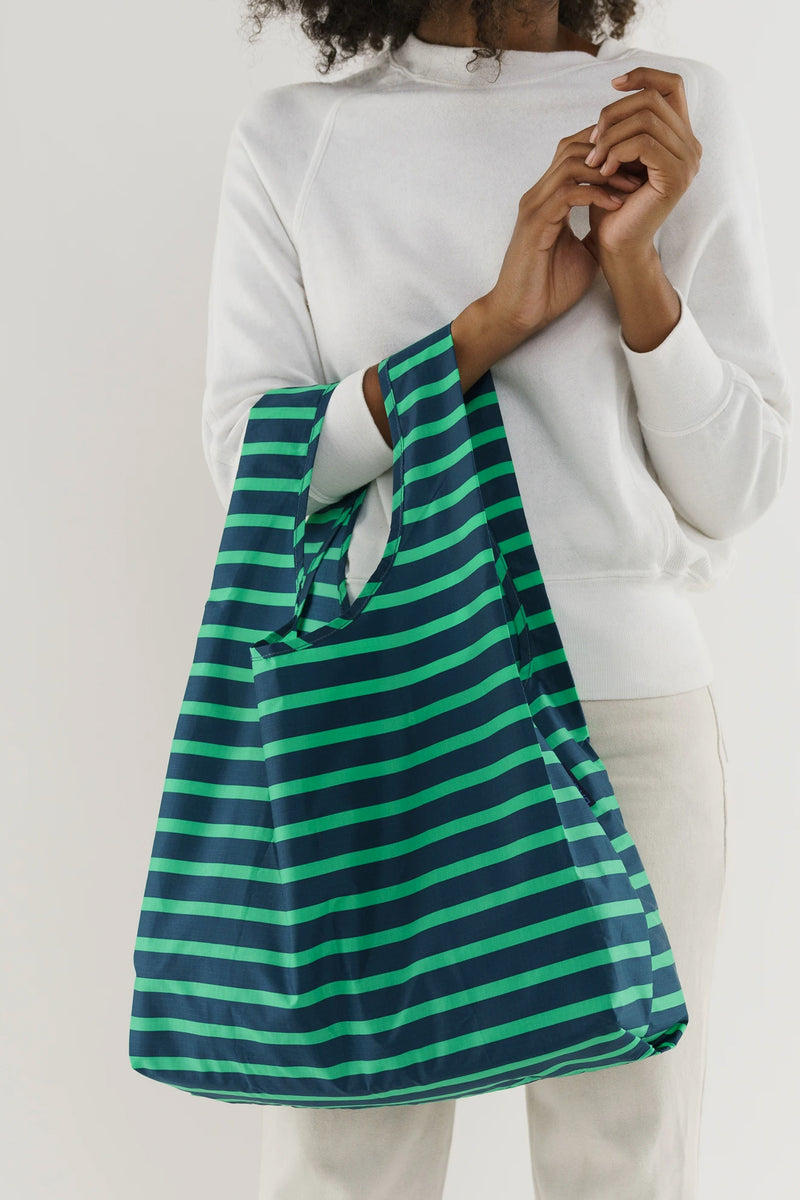 Baggu Aloe Sailor Stripe Reusable Bag - The Mercantile London
