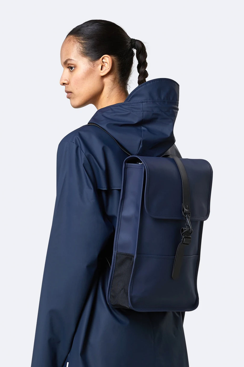 Rains Blue Mini Backpack - The Mercantile London