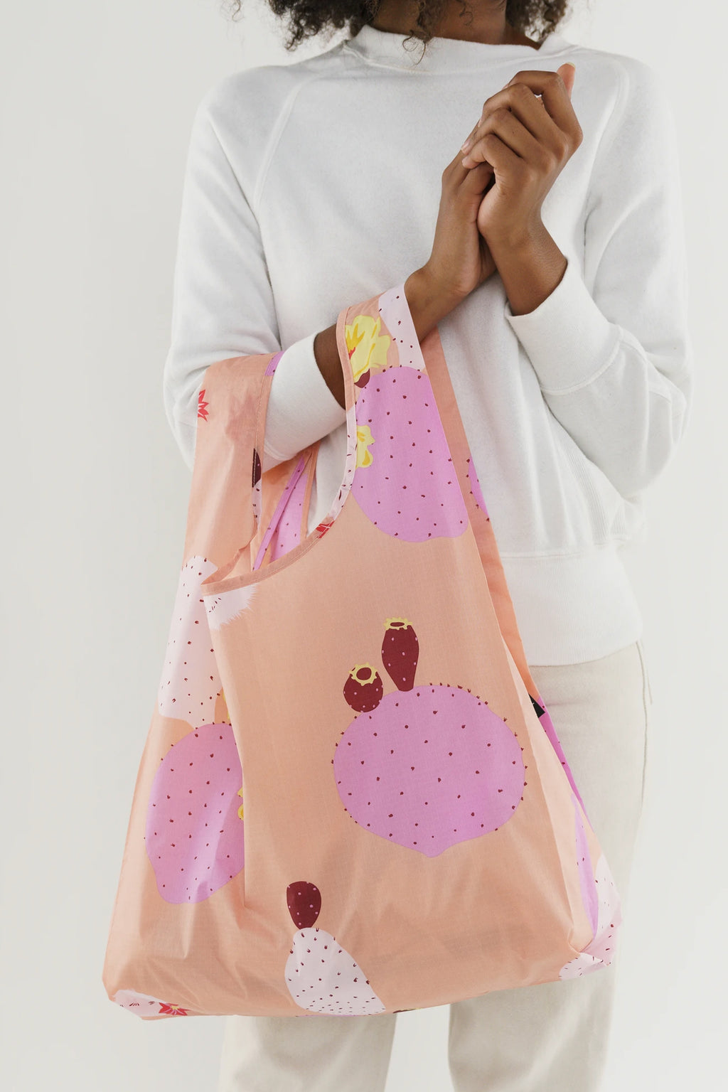 Baggu Pink Cactus Flower Reusable Bag - The Mercantile London