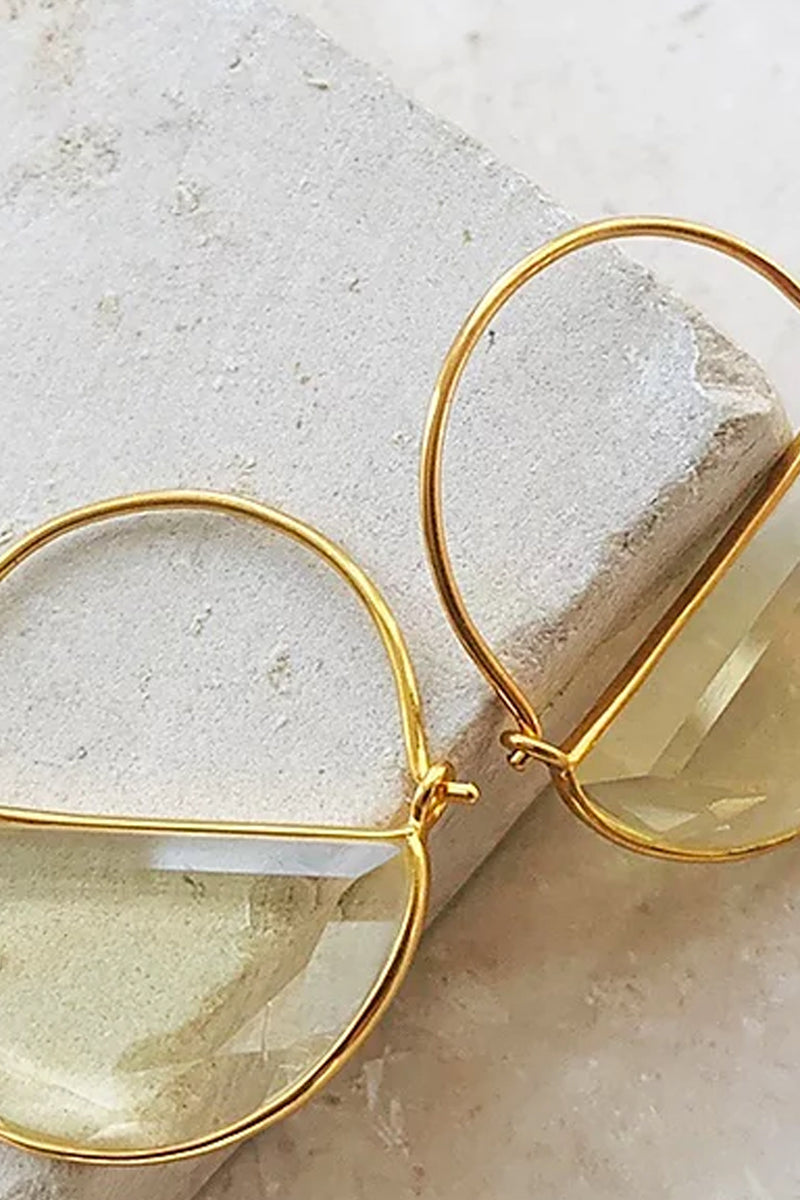 Shyla Imogen Lemon Earrings - The Mercantile London
