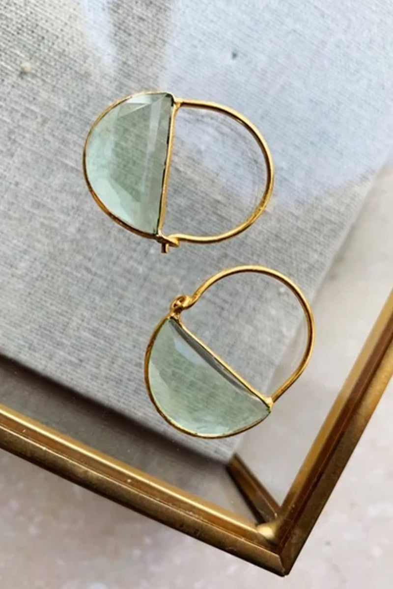 Shyla Imogen Green Earrings - The Mercantile London