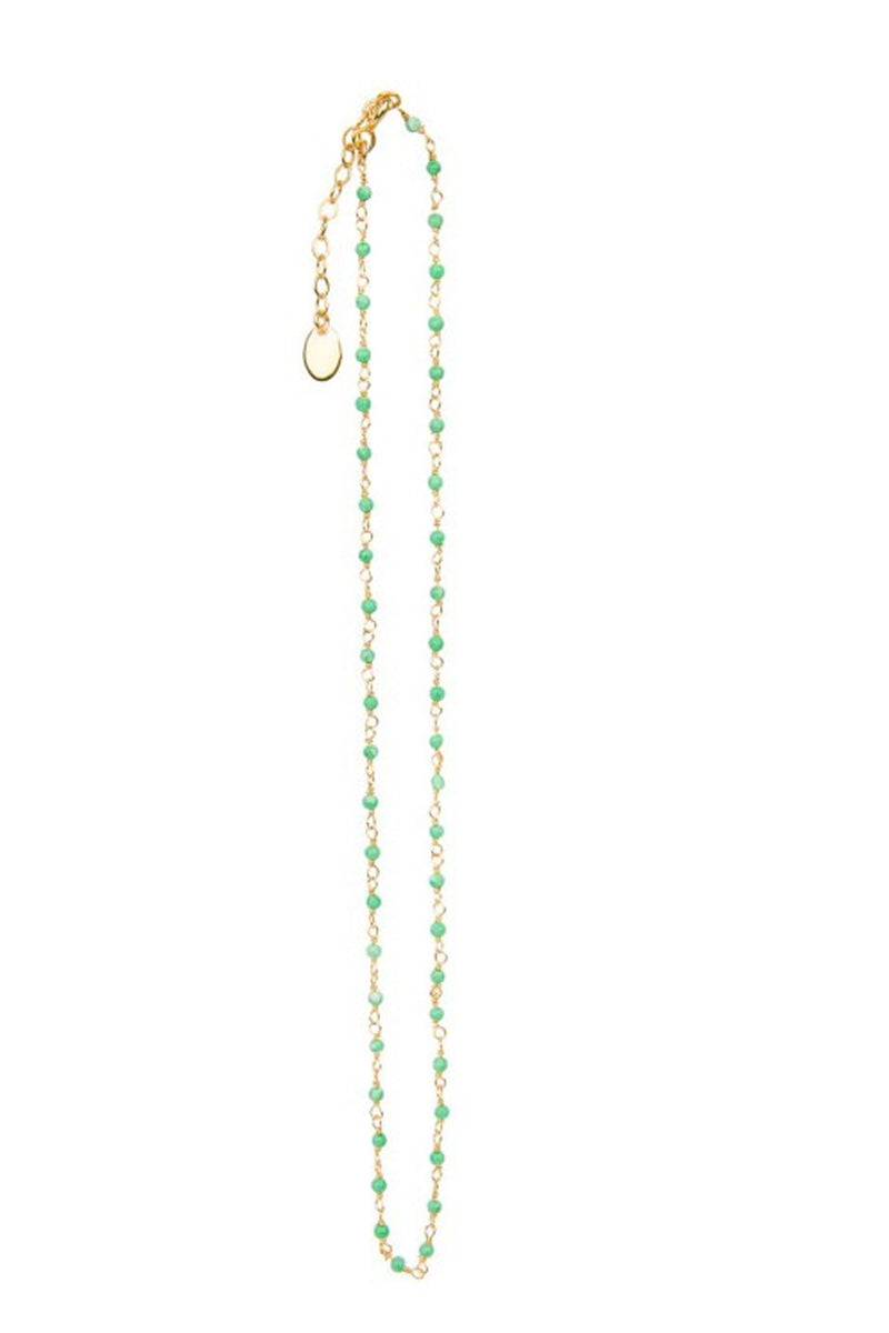 Une A Une Chrysoprase Indian Chain Necklace - The Mercantile London
