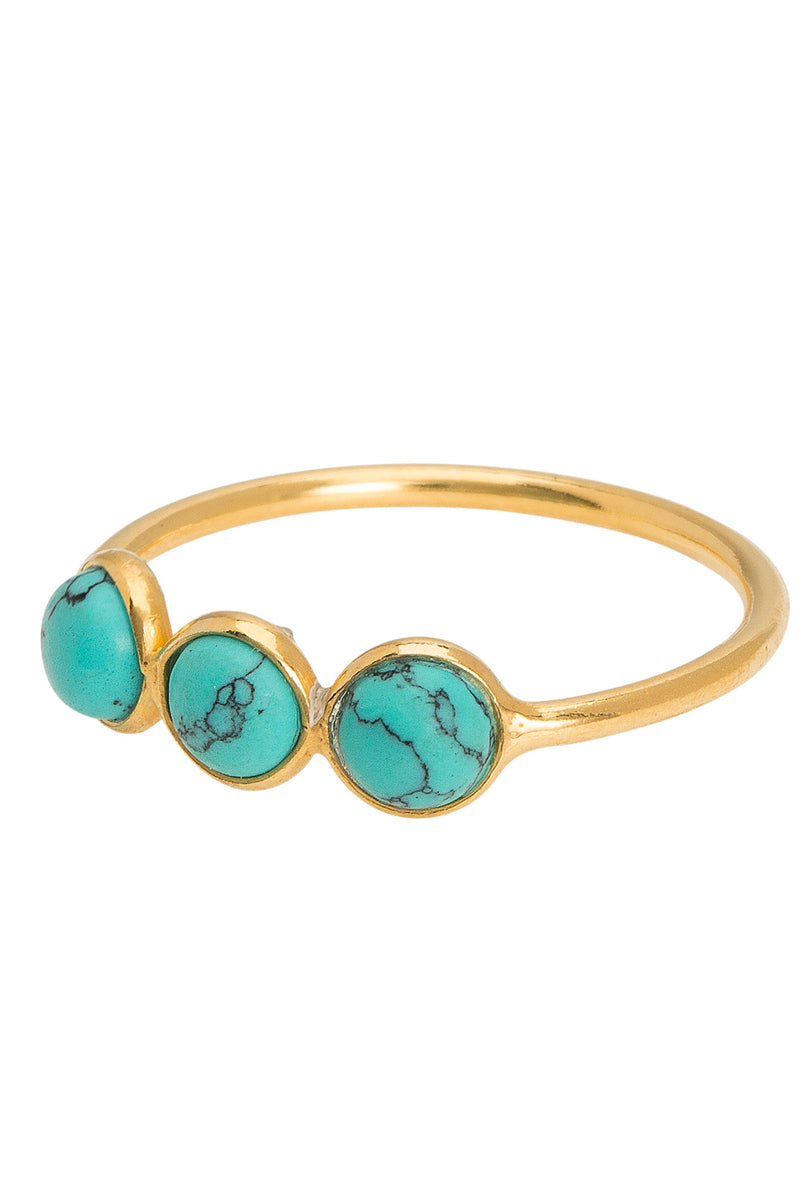 Une A Une Trio Turquoise Ring - The Mercantile London
