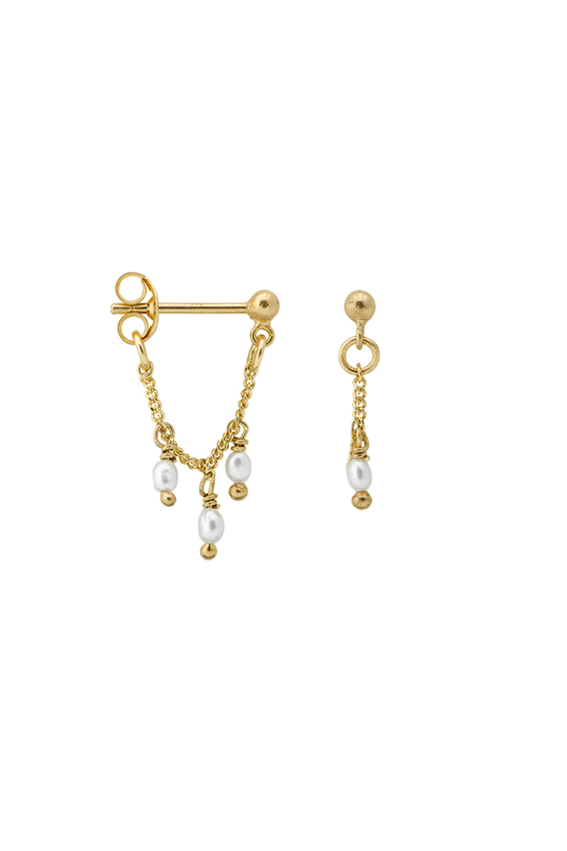 AW20 Anna + Nina Cosmic Dust Chain Earrings - The Mercantile London