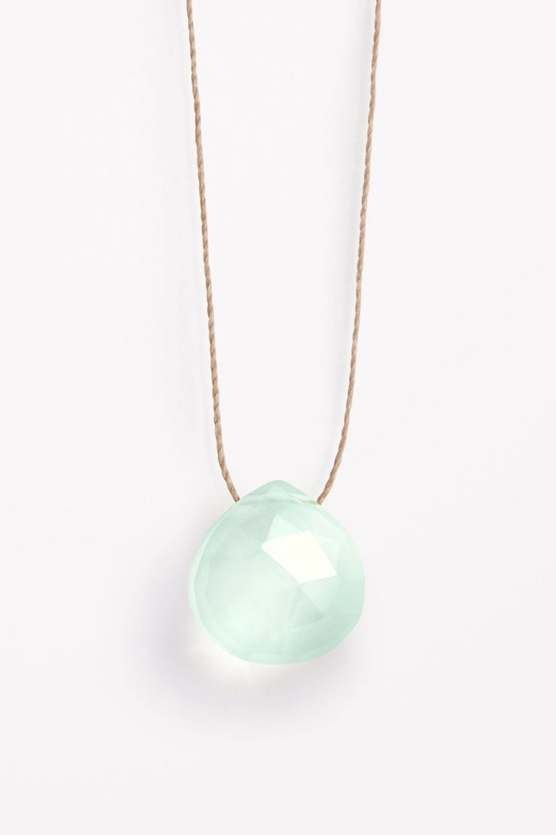 Wanderlust Life Sea Glass Chalcedony Necklace - The Mercantile London