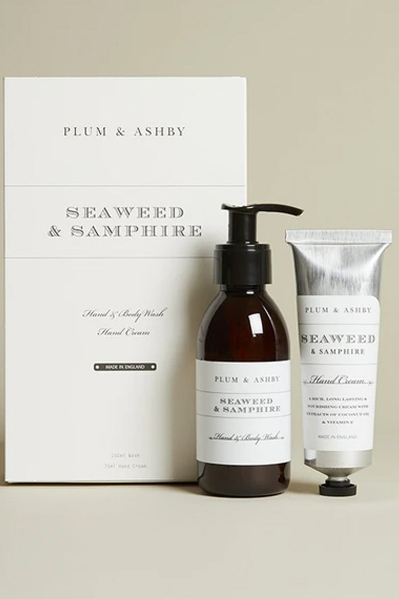 Plum & Ashby Seaweed & Samphire Wash & Hand Cream Gift Set - The Mercantile London