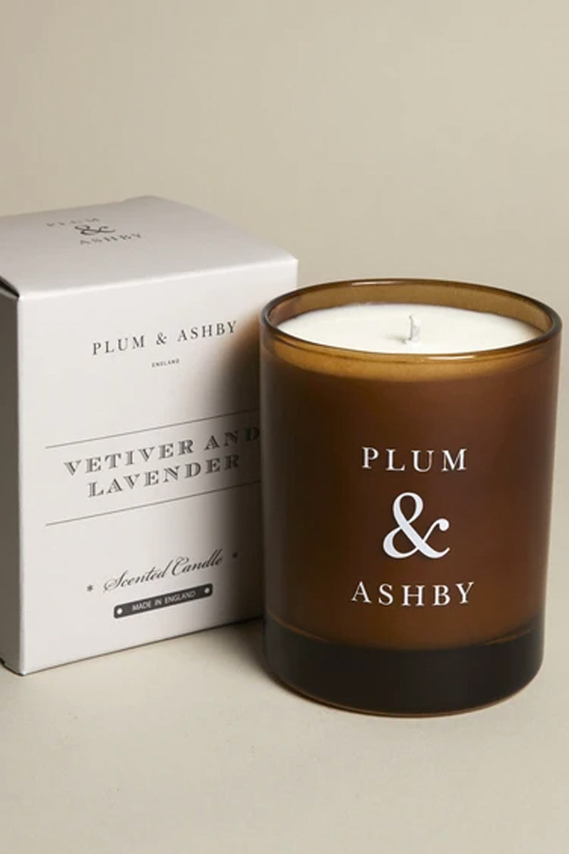 AW20 Plum & Ashby Vetiver & Lavender Candle - The Mercantile London