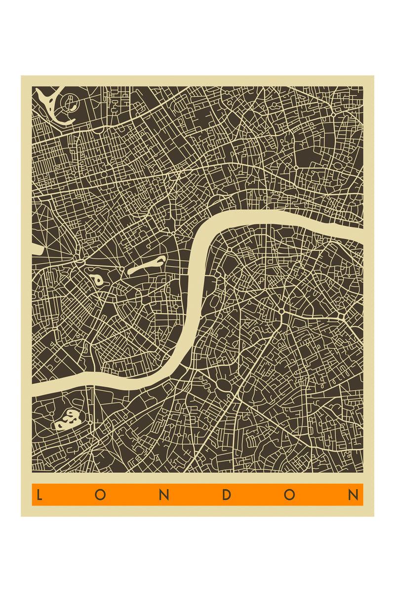 East End Prints London Map A3 Poster - The Mercantile London