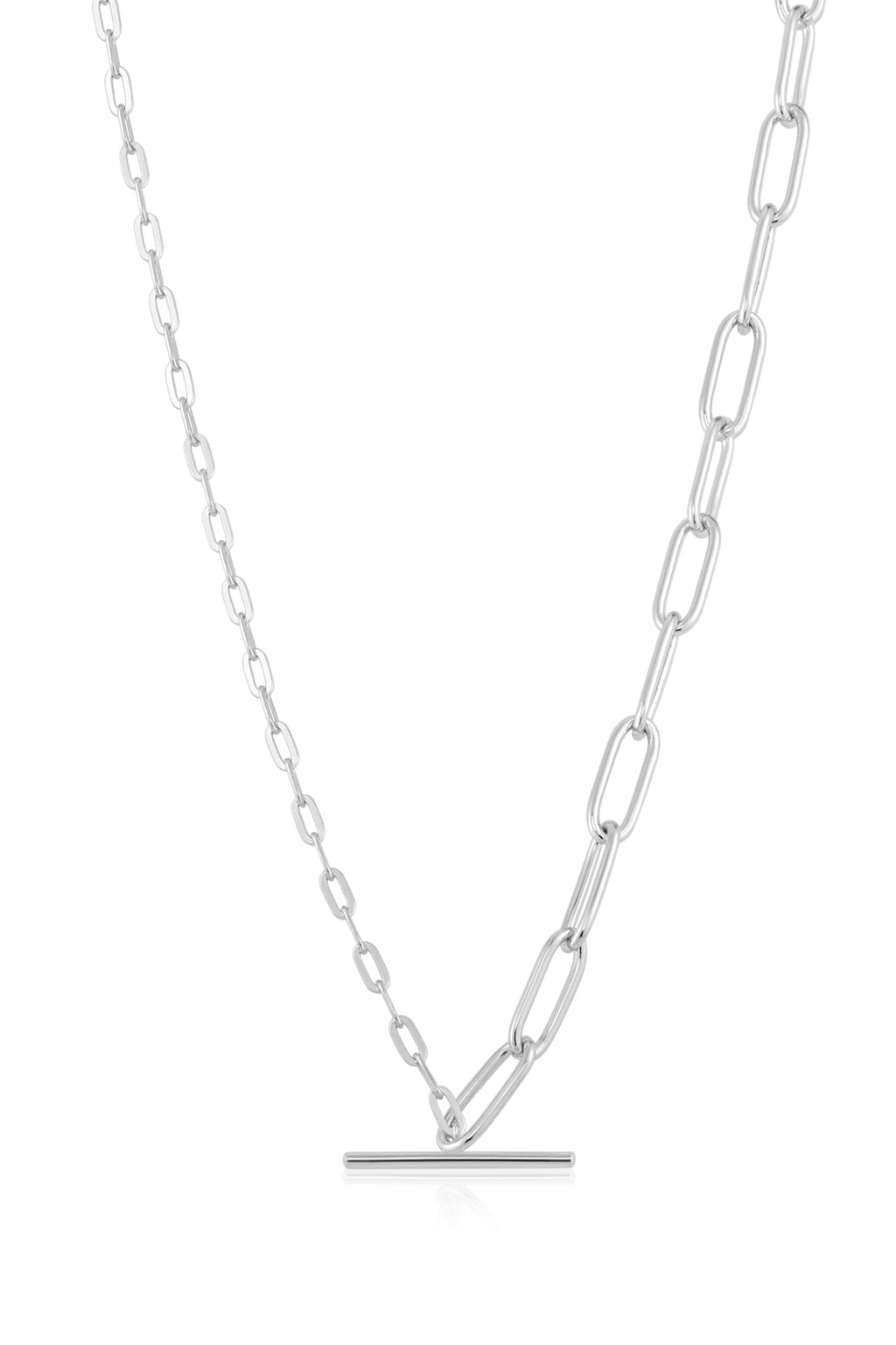 Ania Haie T-Bar Link Silver Necklace - The Mercantile London