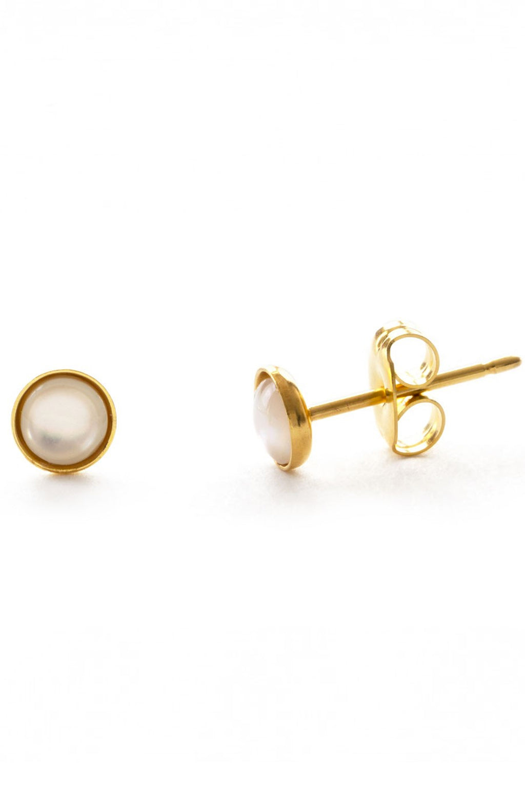 Amano Mother Of Pearl Studs - The Mercantile London