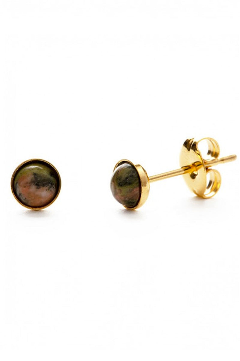 Amano Unakite Studs - The Mercantile London