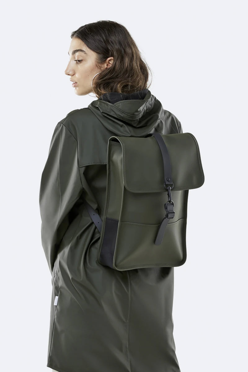 Rains Green Mini Backpack - The Mercantile London