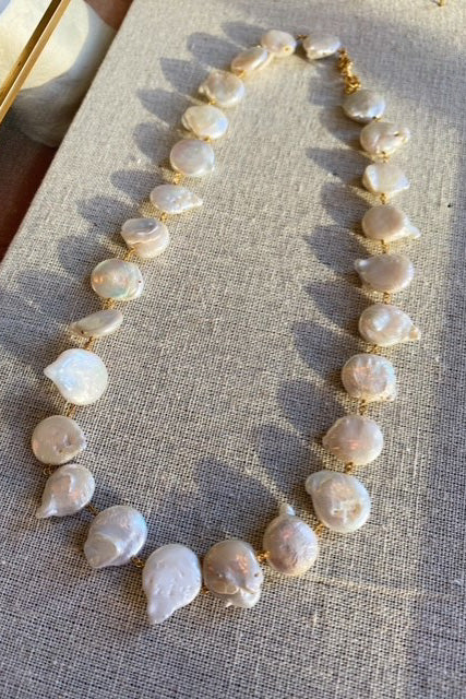 SS21 Shyla Hermania Pearl Necklace - The Mercantile London