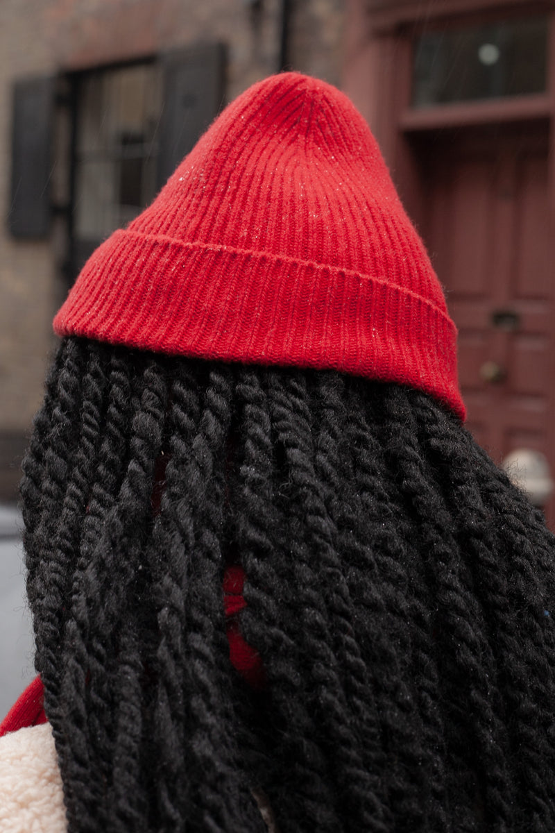 Colorful Standard Scarlet Red Beanie - The Mercantile London