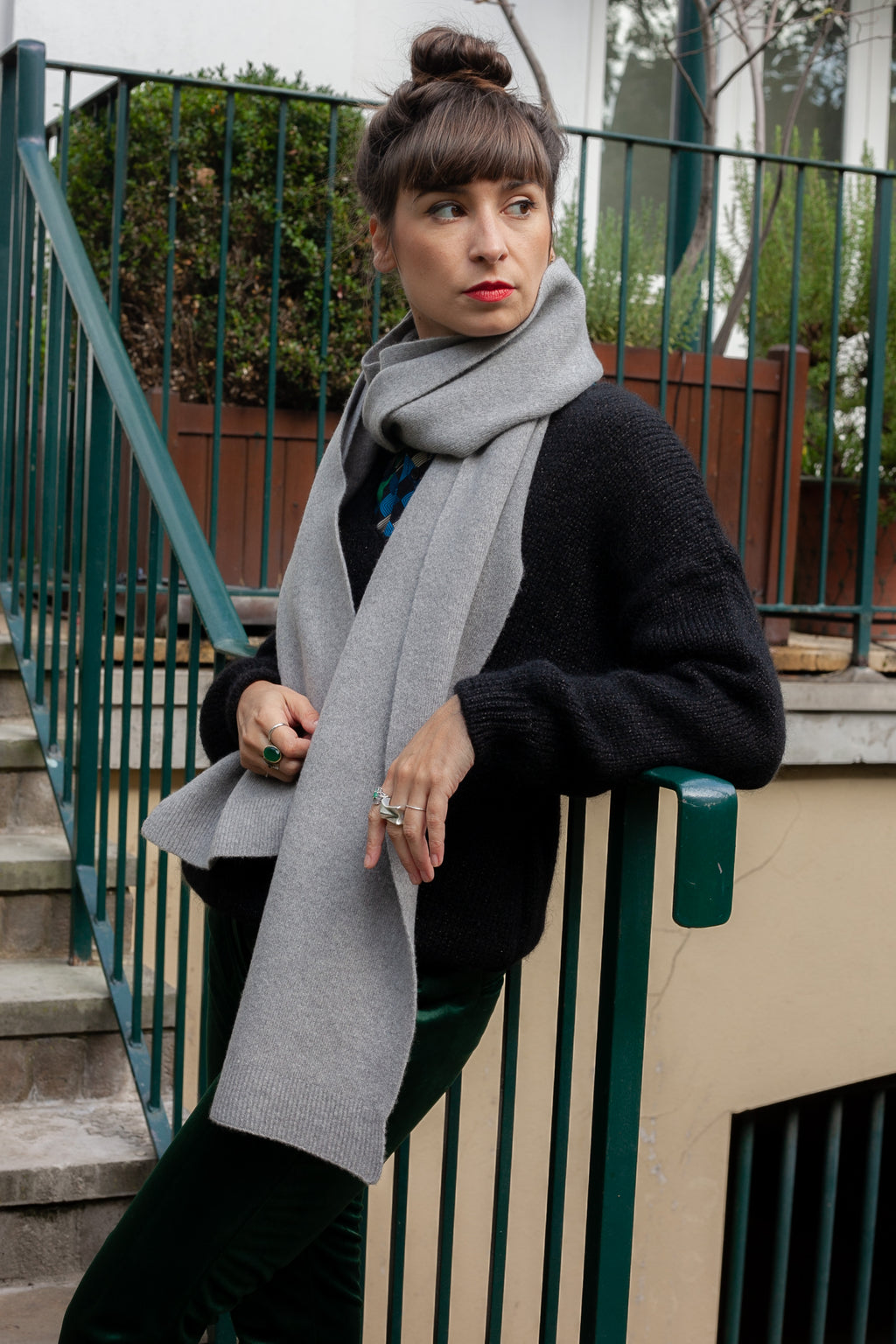 Colorful Standard Heather Grey Scarf - The Mercantile London
