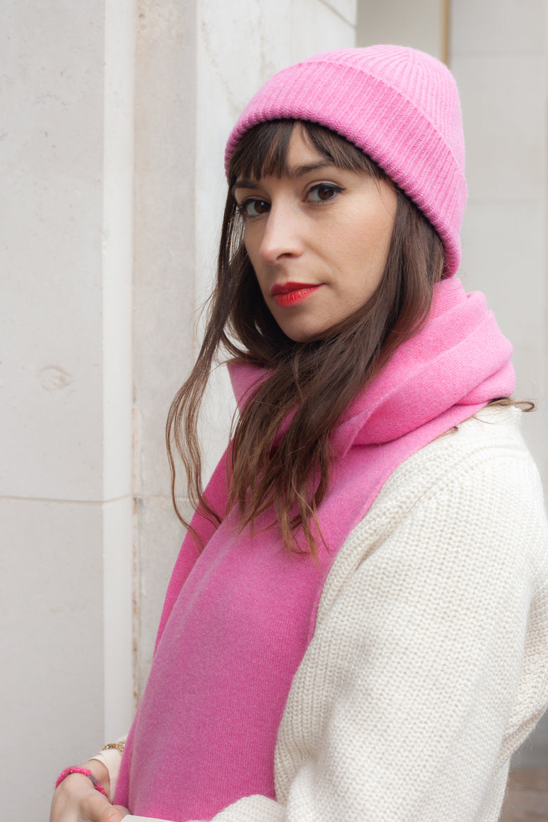Colorful Standard Bubblegum Pink Scarf - The Mercantile London