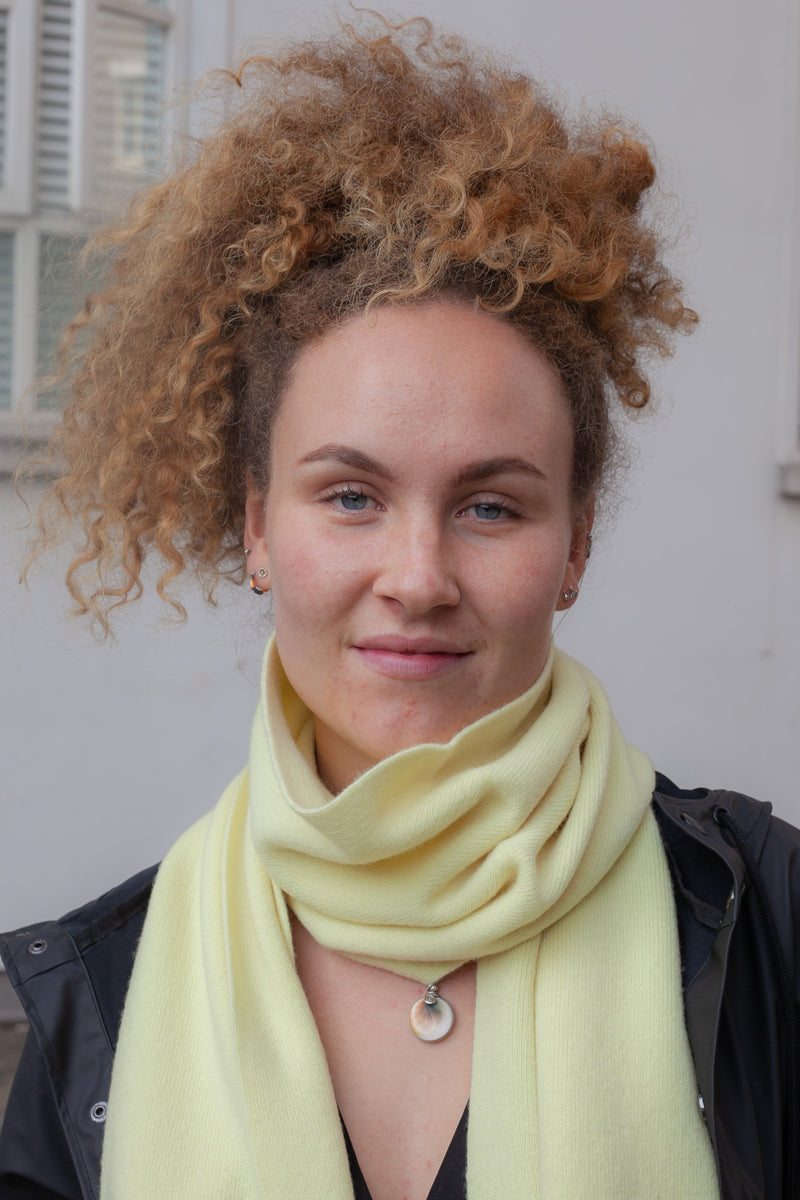 Colorful Standard Soft Yellow Scarf - The Mercantile London