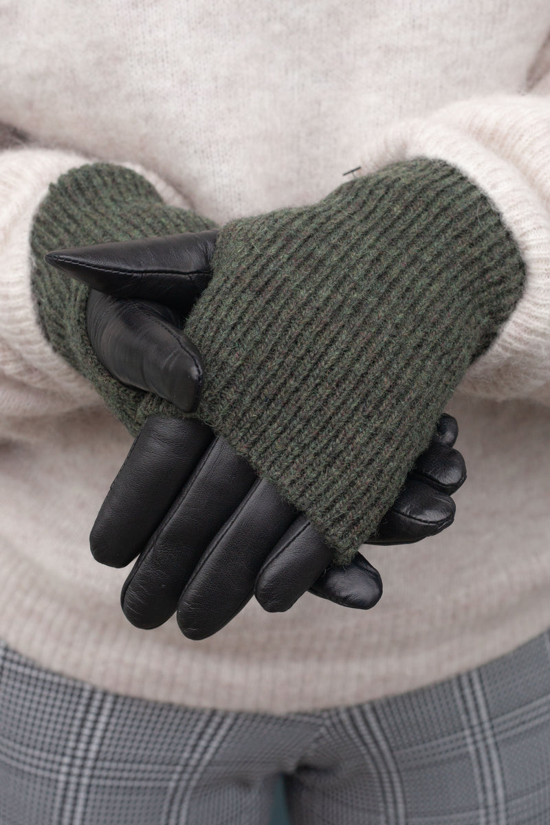 Markberg Helly Black & Green Gloves - The Mercantile London