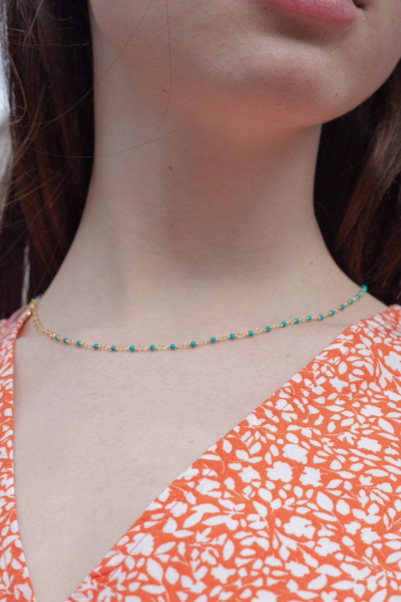Une A Une Turquoise Indian Chain Necklace - The Mercantile London