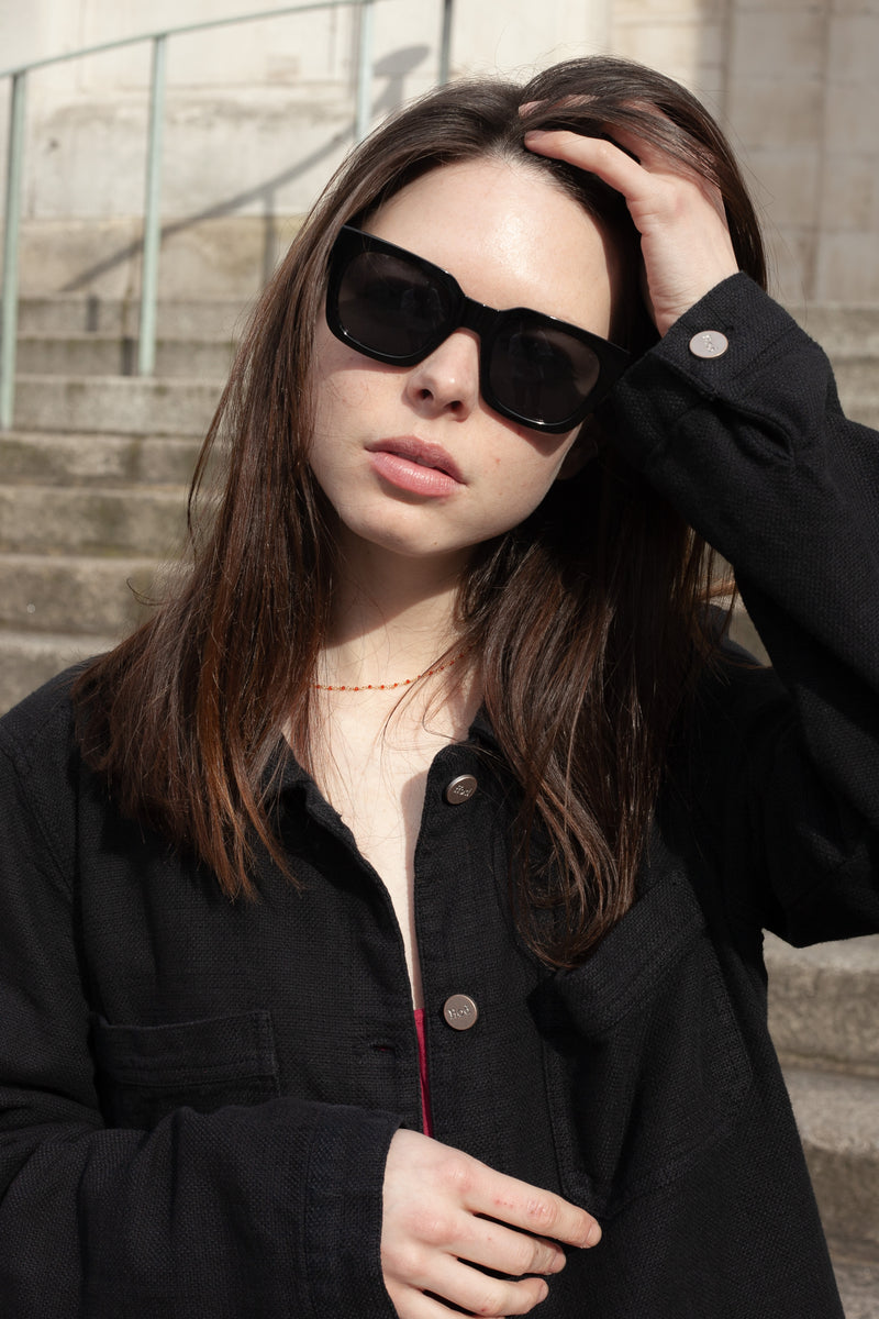 A Kjaerbede Nancy Black Sunglasses - The Mercantile London