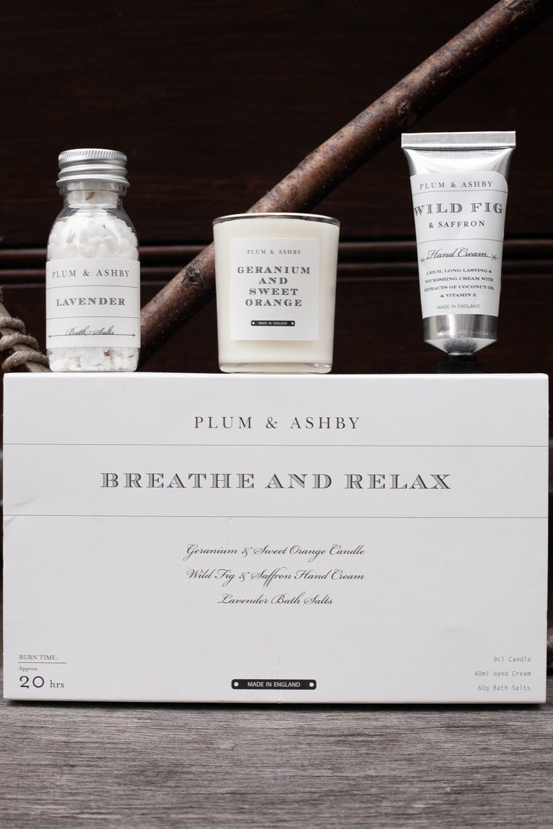 Plum & Ashby Breathe & Relax Gift Set - The Mercantile London