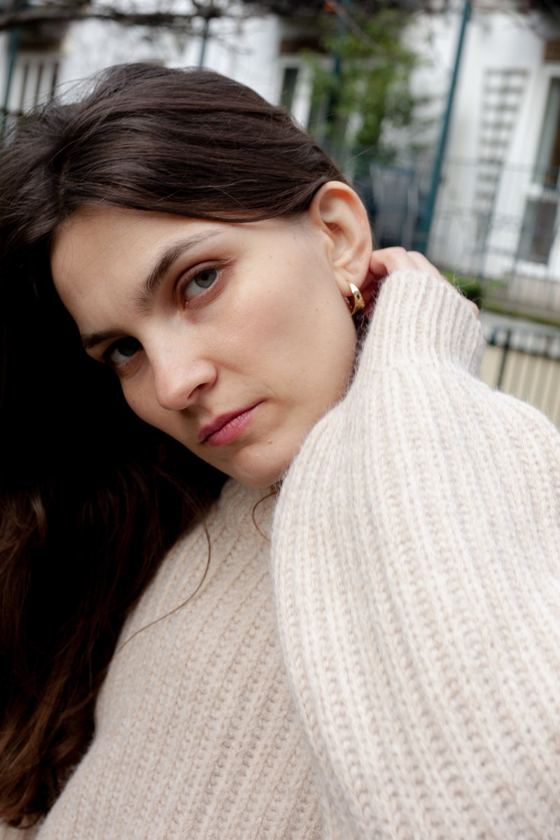 Anna + Nina Twirl Hoop Earrings - The Mercantile London