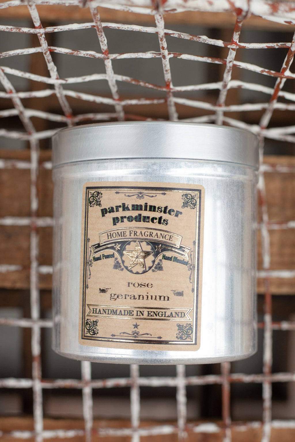Parkminster Rose Geranium Tin Candle - The Mercantile London