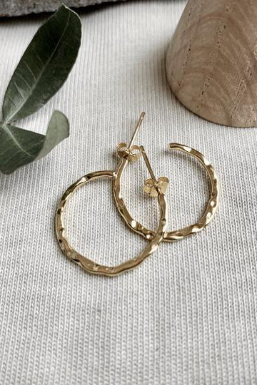 SS21 Formation Splash Gold Hoops - The Mercantile London