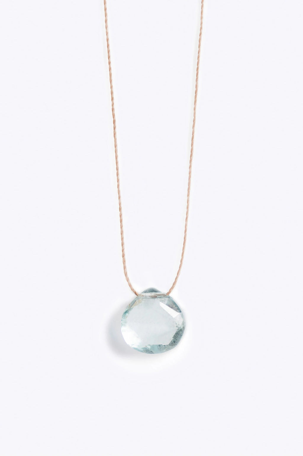 SS21 Wanderlust Aquamarine Fine Cord Necklace - The Mercantile London