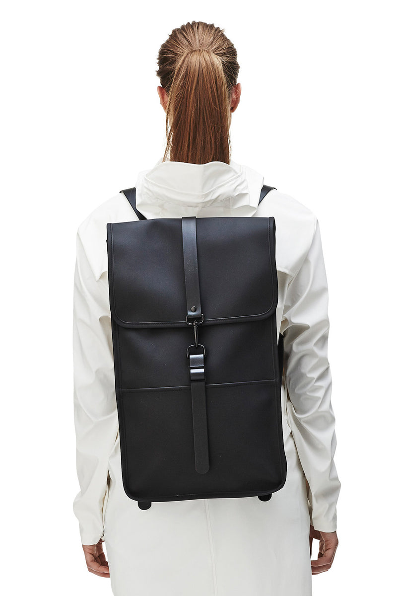 Rains Black Backpack - The Mercantile London