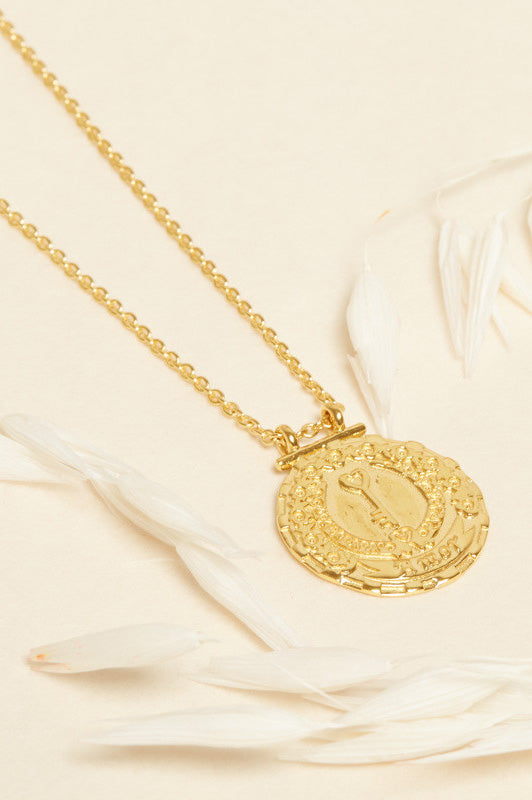 SS21 Une A Une Key & Love Medallion Necklace - The Mercantile London