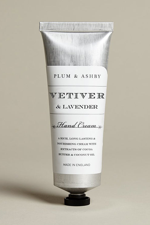Plum & Ashby Vetiver & Lavender Hand Cream Tube - The Mercantile London