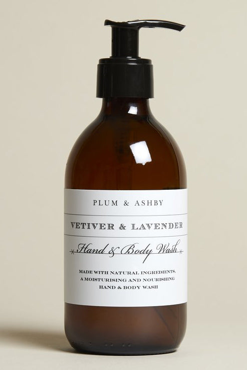 Plum & Ashby Vetiver & Lavender Hand & Body Wash - The Mercantile London