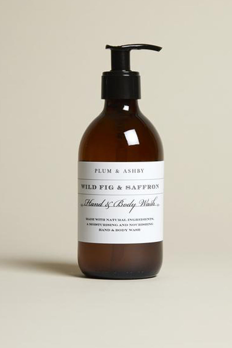 Plum & Ashby Wild Fig & Saffron Hand & Body Wash - The Mercantile London