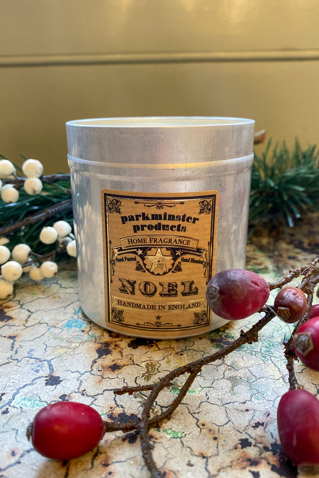 Parkminster Noel Tin Candle