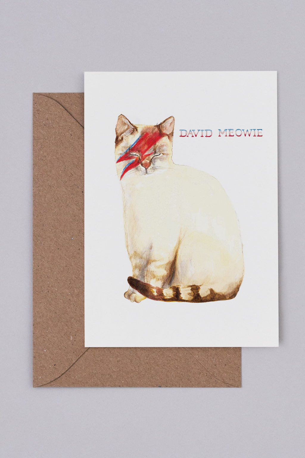 Mister Peebles David Meowie Card - The Mercantile London