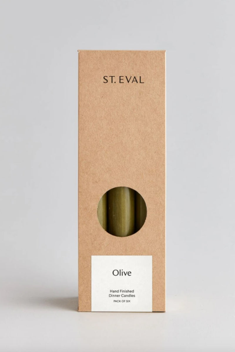 St. Eval Olive Dinner Candles - The Mercantile London