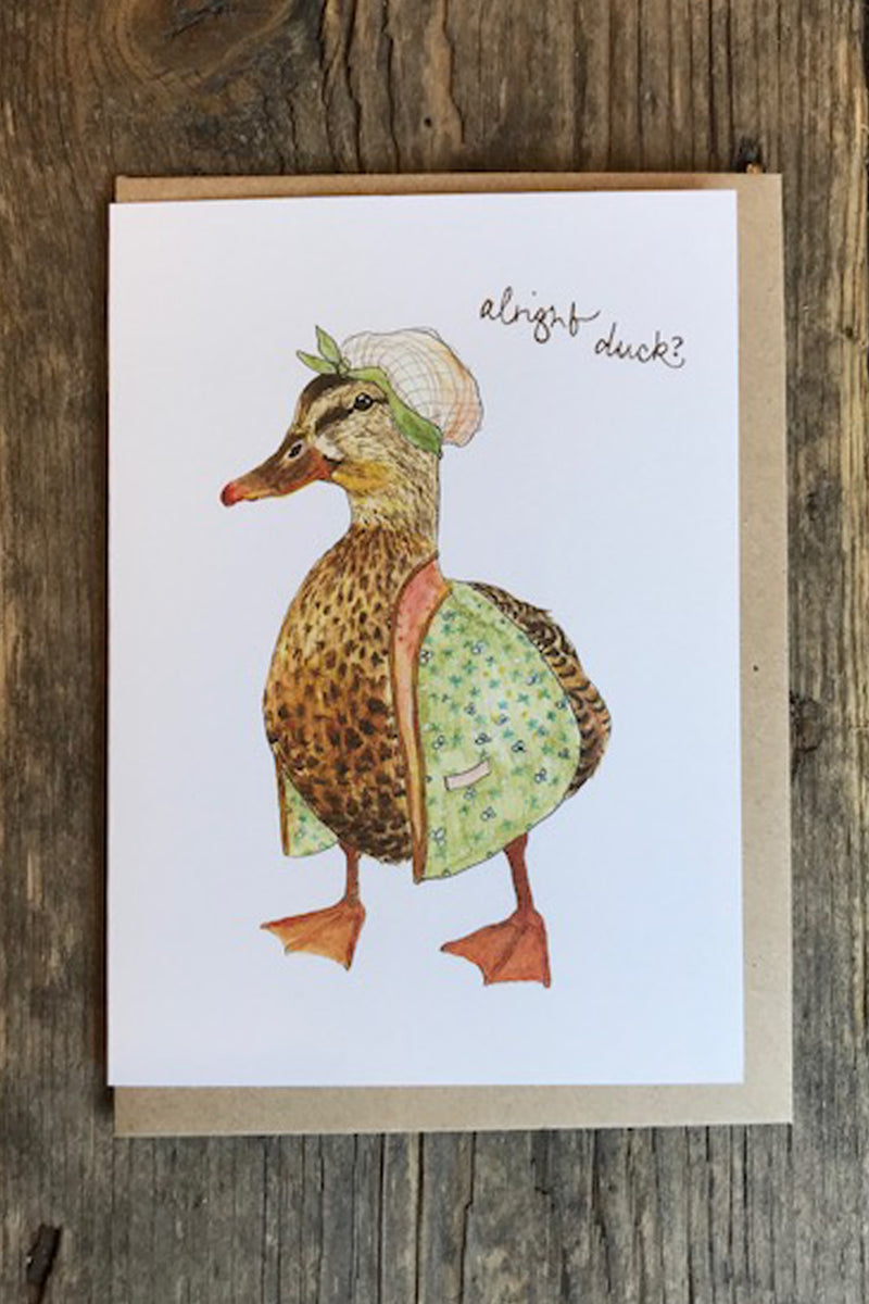 Mister Peebles Alright Duck Card - The Mercantile London