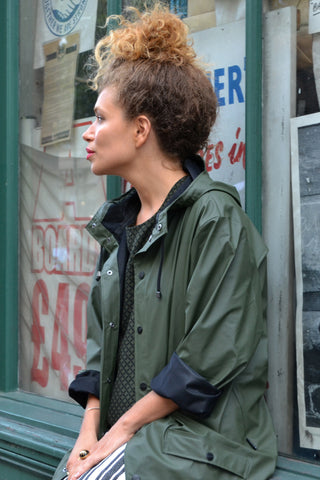 Rains Green Jacket