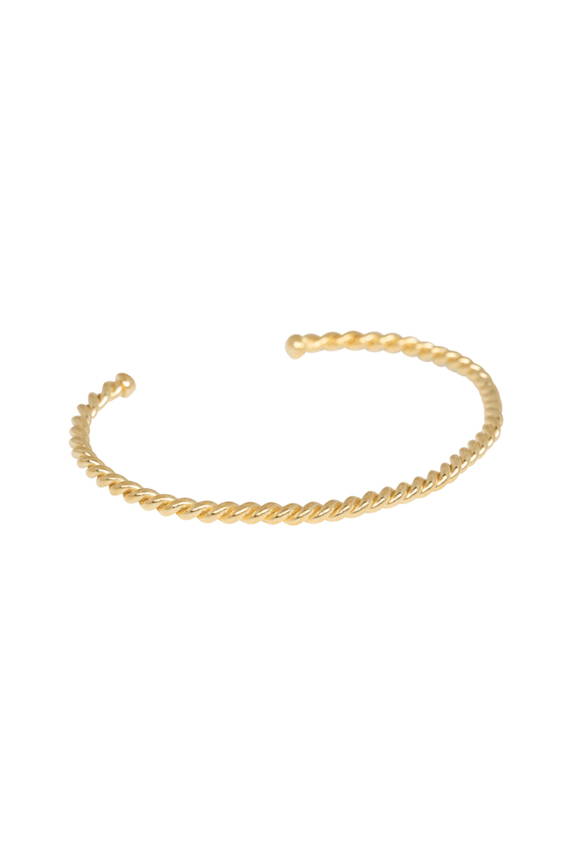 Anna + Nina Gold Rope Cuff - The Mercantile London