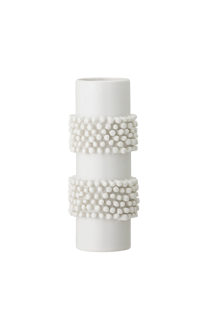 Bloomingville Slim White Stoneware Vase - The Mercantile London