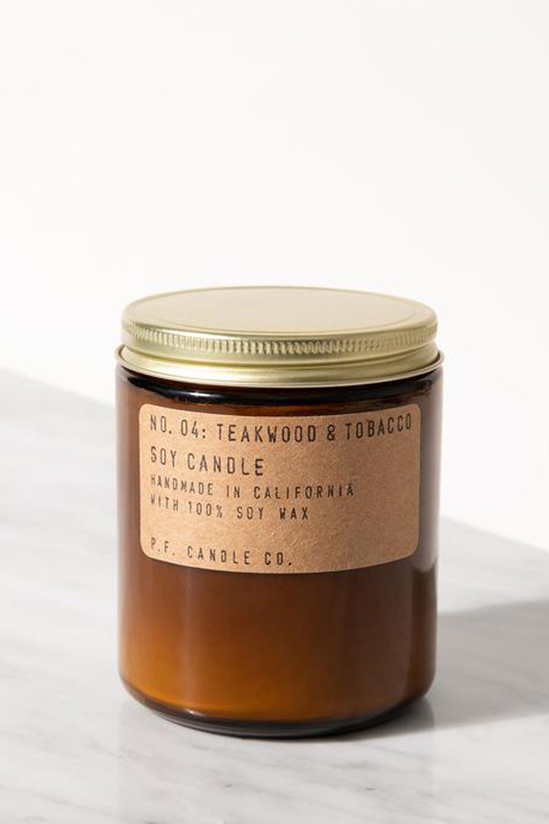 PF Candle Co No. 4 Teakwood & Tobacco Candle - The Mercantile London