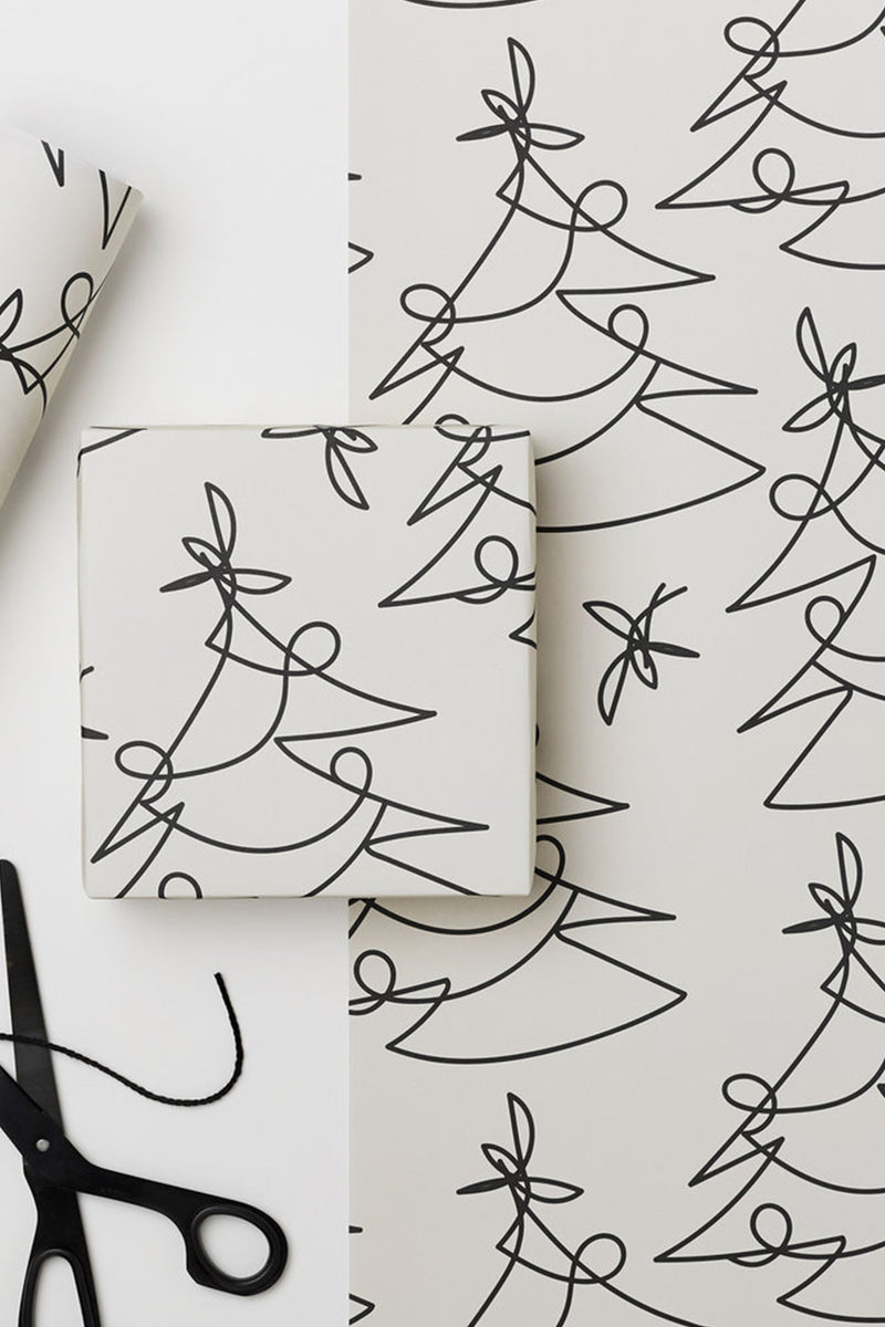 Tree Lines Gift Wrap - The Mercantile London