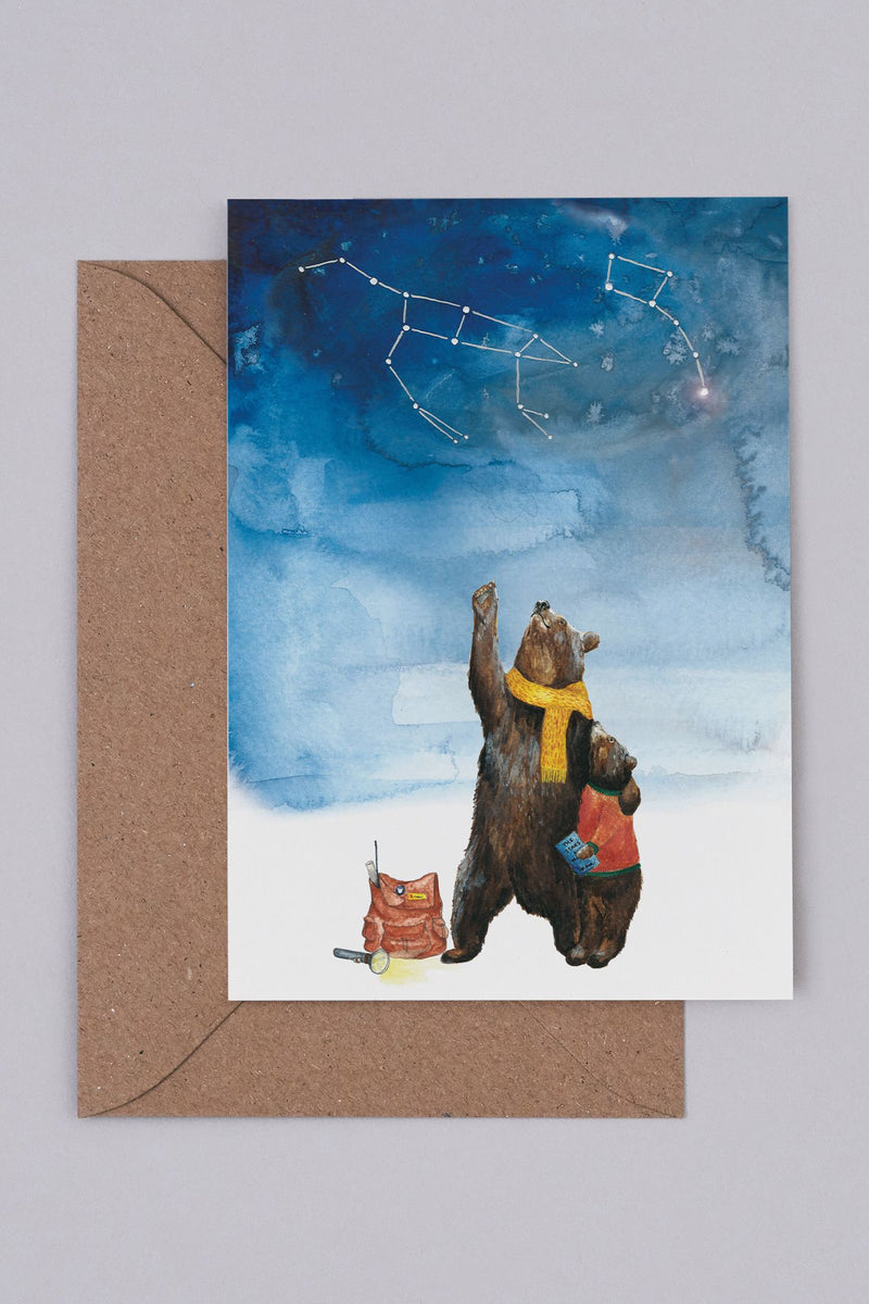 Mister Peebles Ursa Major & Ursa Minor Card - The Mercantile London