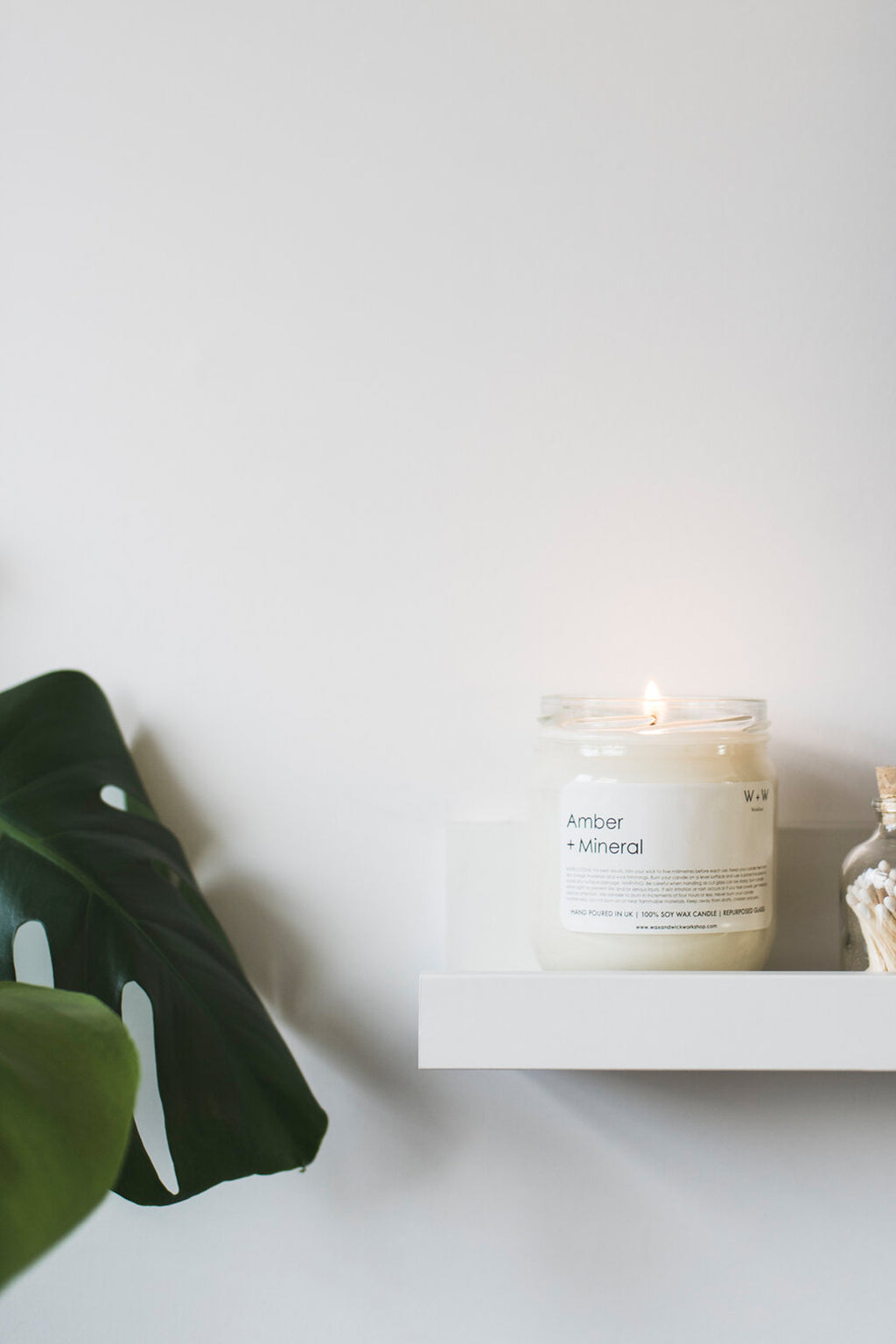 Wax + Wick Amber & Mineral Candle - The Mercantile London