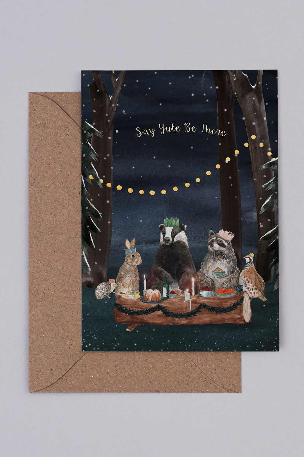 Mister Peebles Say Yule Be There Card - The Mercantile London