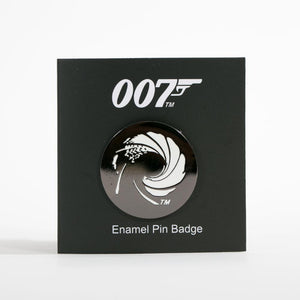James Bond Gun Barrel Pin Badge