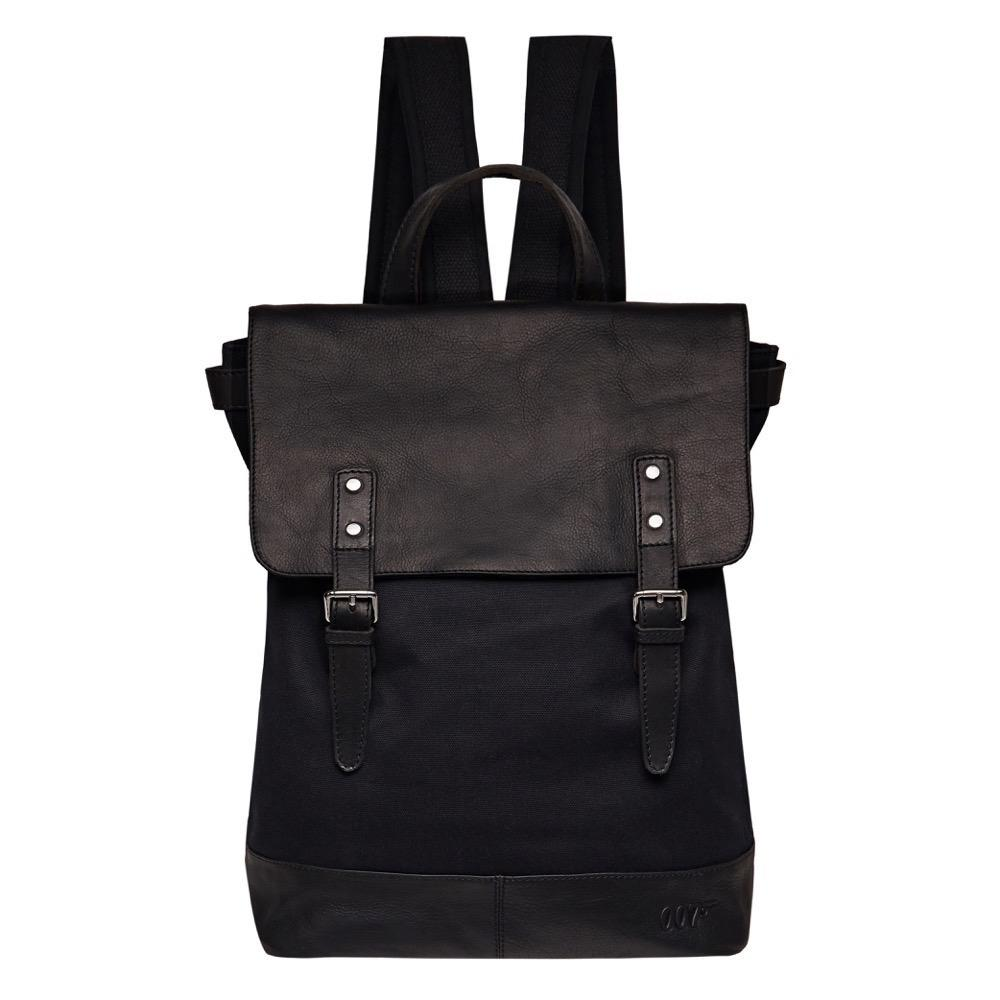 007 Nappa Leather & Canvas Backpack