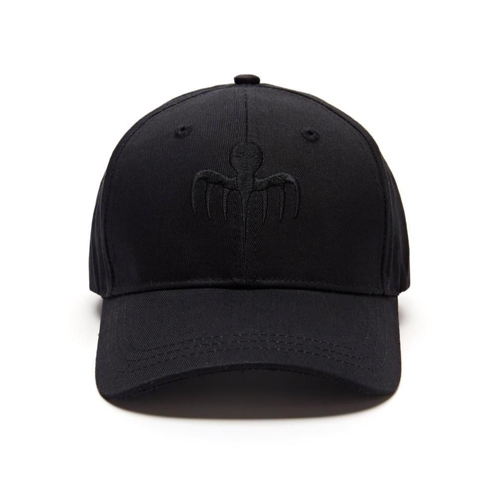 SPECTRE Embroidered Baseball Cap - Black On Black