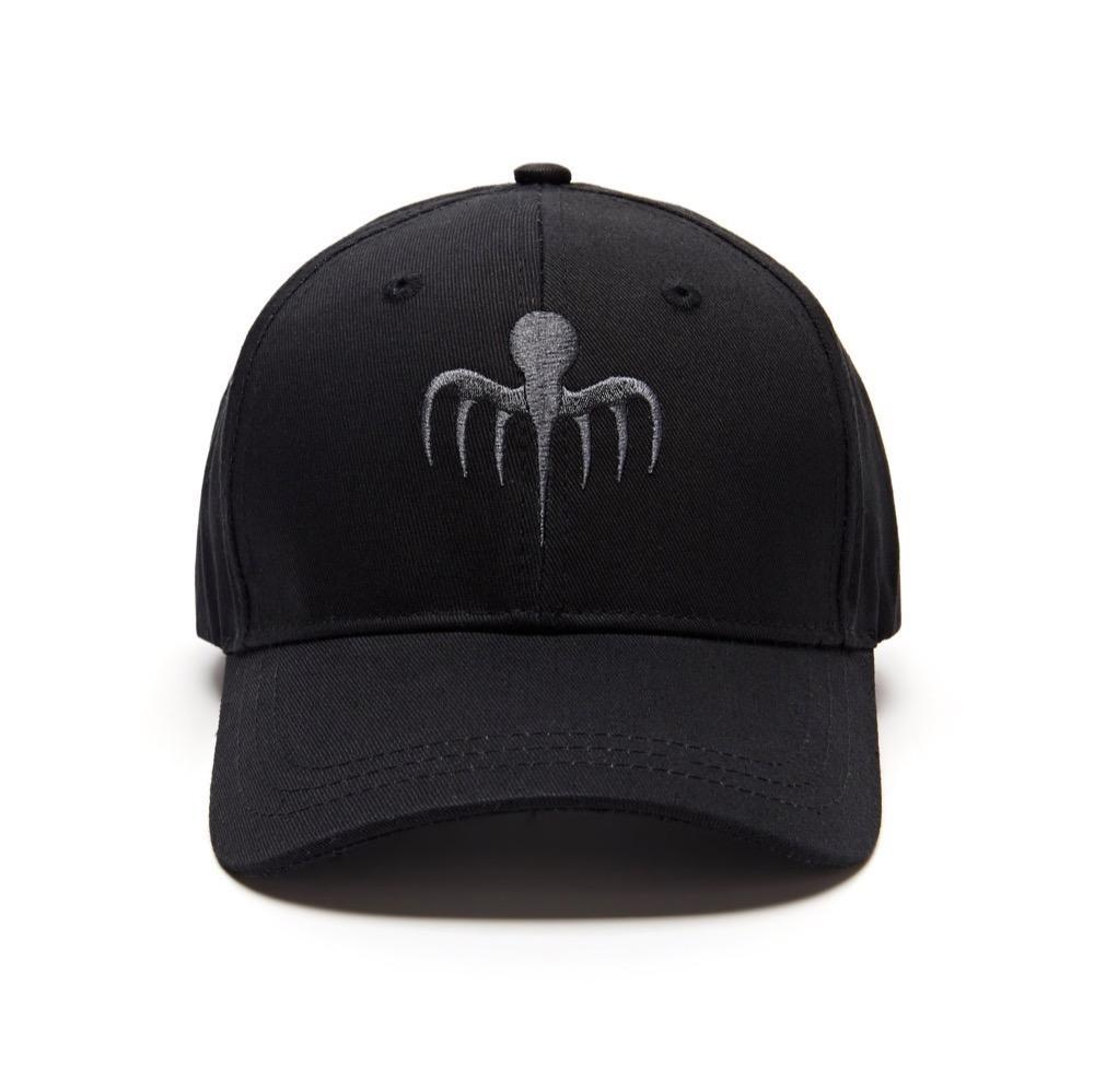 SPECTRE Embroidered Baseball Cap - Grey On Black